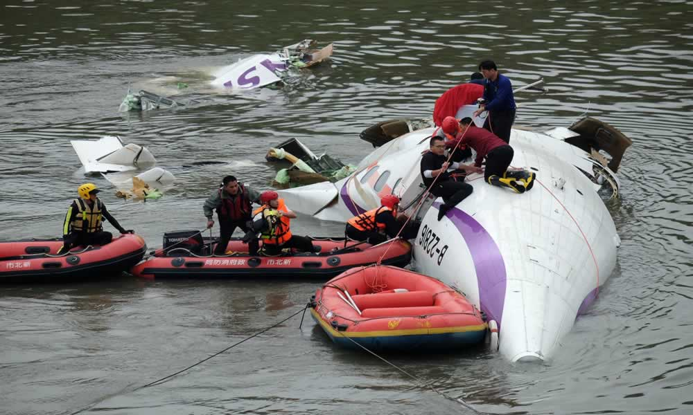 Passenger Plane Crash-landed in River