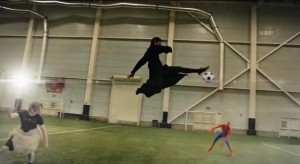 Superhero's Take on an Epic Football Game! Who's Your Favorite One?