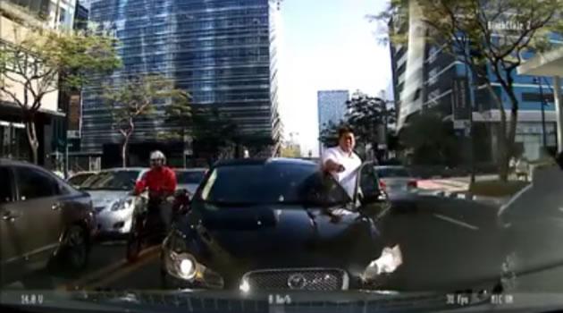 Watch: Counter-flowing Jaguar Driver Angers Netizens