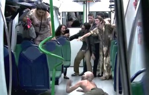 The Most Terrifying Subway Zombie Prank You'll Ever Watch