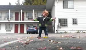 "Cute Little ""Giant"" Kid Doing Cute Little Hip-hop Strut"