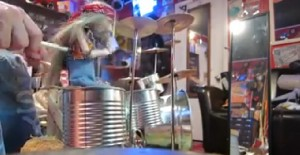 Amazing Sad-Faced Puppet Drummer Plays So Realistically