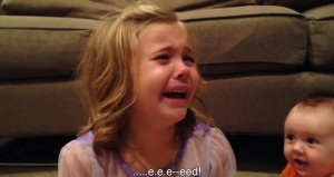 Kid Girl Cries Over Kid Brother's Growing Up: Hates Dying at Age 100