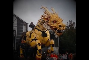 Giant Mechanized Puppets Moving By Themselves in the Streets, Until You Look Closer