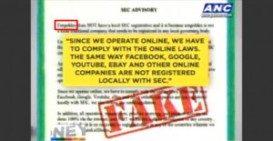 "Beware Fake ""SEC"" Advisory Saying Emgoldex Doesn't Need License to Operate in PH"