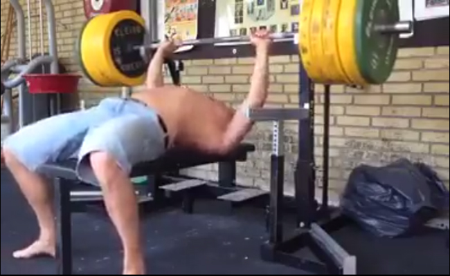 Lethal Bench Press! Whatever You Do, Don't Do This at Home–or in the Gym