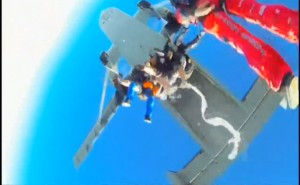 Parachuters Congregate in Midair and Join Hands to Form Something Fascinating