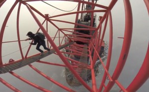 Instead of Mountain Climbing, They're Crazy about Tower Climbing. See What Happens