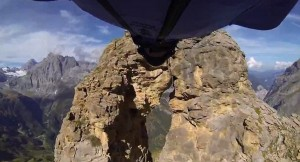 Wingsuit Diver Speeds Through Narrow Crevice in Big Rock. Will He Make It Alive?