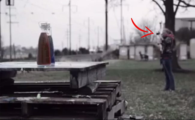 See How Arrows Pierce Through Targets Real Slowly. Amazing Archery Prowess, Too!