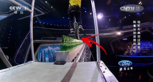 Biking on Bottles Some 15 Feet Above Ground! Audience Terrified After What Happened!