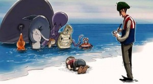 17 Heartbreaking Cartoons From Artists All Over The World Mourning The Drowned Syrian Boy