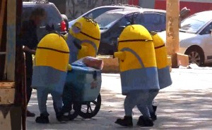 Mischievous Minion Mascots: Do You Think They're Cute or Funny?