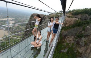 Be A Daredevil And Conquering China's Giant Glass Bridge