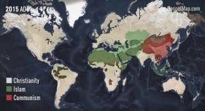 Map Shows How No Empire in History Could Beat the Spread of Christianity