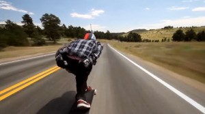 Skateboarding Down a Highway at 70 mph with No Protective Gear On! Guess What Happened!