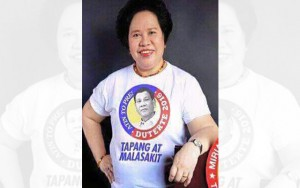 Look: Miriam Wearing A Pro-Duterte Shirt! Authentic or Not?