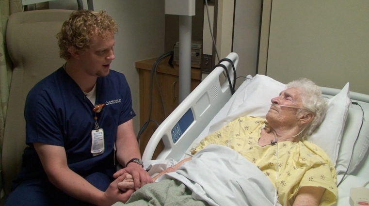Keeping Quiet Usually Helps Patients Feel Better. But This Nurse Does Something Else