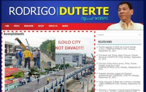 Duterte's 'Official' Website Uses Iloilo Flyover Photo to Highlight Mayor's Accomplishments