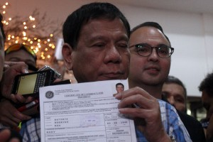 Duterte's COC Accepted for the Presidential Race