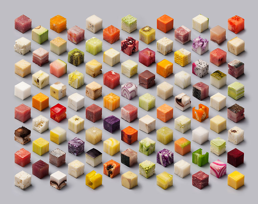 A Bit OC? You'd Love These 98 Perfect Cubes or Raw Food from Dutch Artists