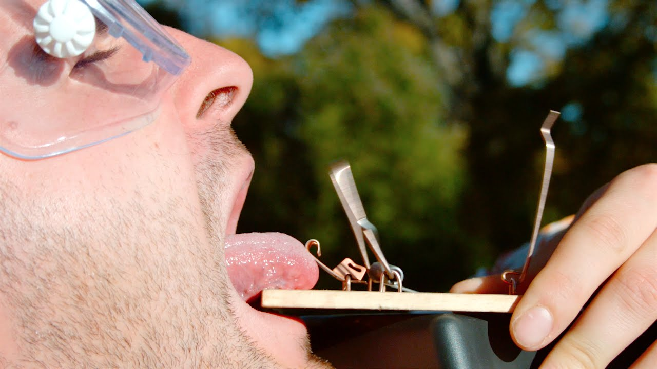 Watch (And Feel?) What It's Like to Put Your Tongue In a Mouse Trap In Slowmo