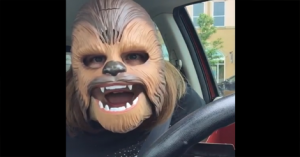 WATCH: This mom's pure joy over a Chewbacca mask made her a Facebook star!